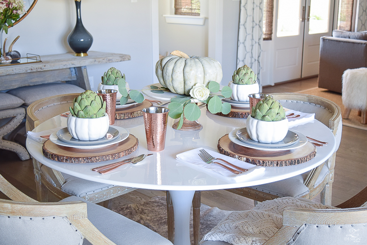 simple-thanksgiving-table-scape-copper-flatware-pumpkin-centerpiece-white-tulip-table-3
