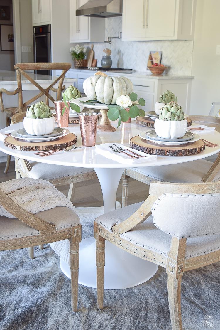 simple-thanksgiving-table-scape-copper-flatware-pumpkin-centerpiece-white-tulip-table-7