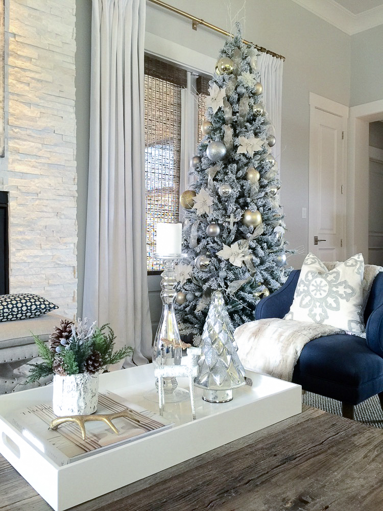 White modern christmas tree home design for Modern christmas decorations online