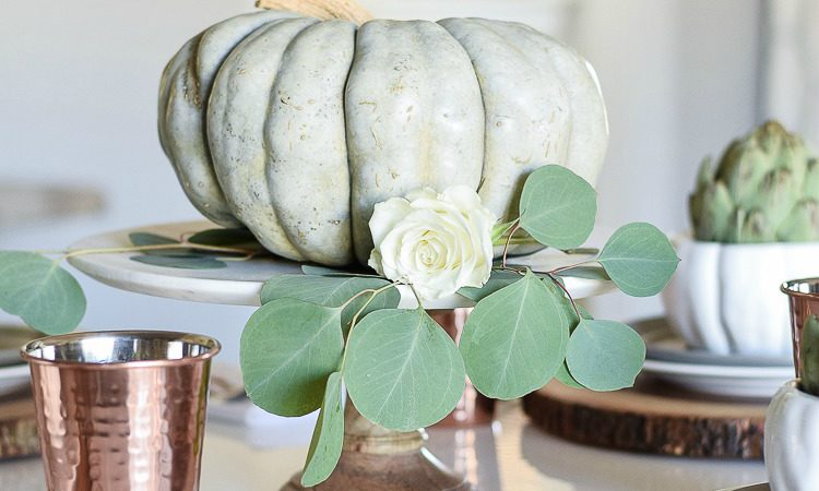 A Simple Neutral Thanksgiving Table Scape