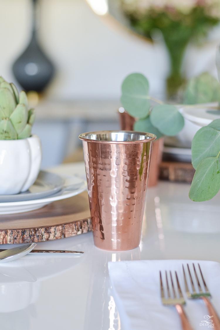 wood-slice-place-mat-white-tulip-table-copper-flatware-copper-tumbler-white-modern-farmhouse-kitchen-thanksgiving-entertaining-table-scape-7