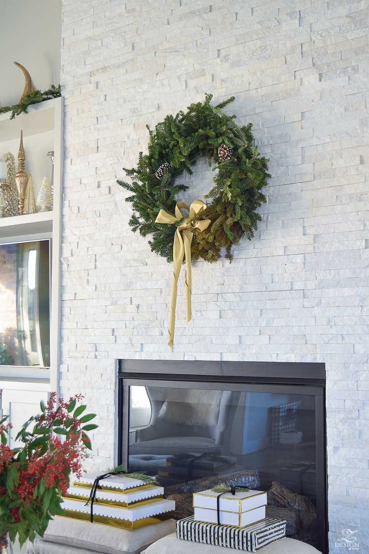 christmas-home-tour-coffee-table-styling-for-christmas-white-stone-fireplace-rustic-coffee-table-2