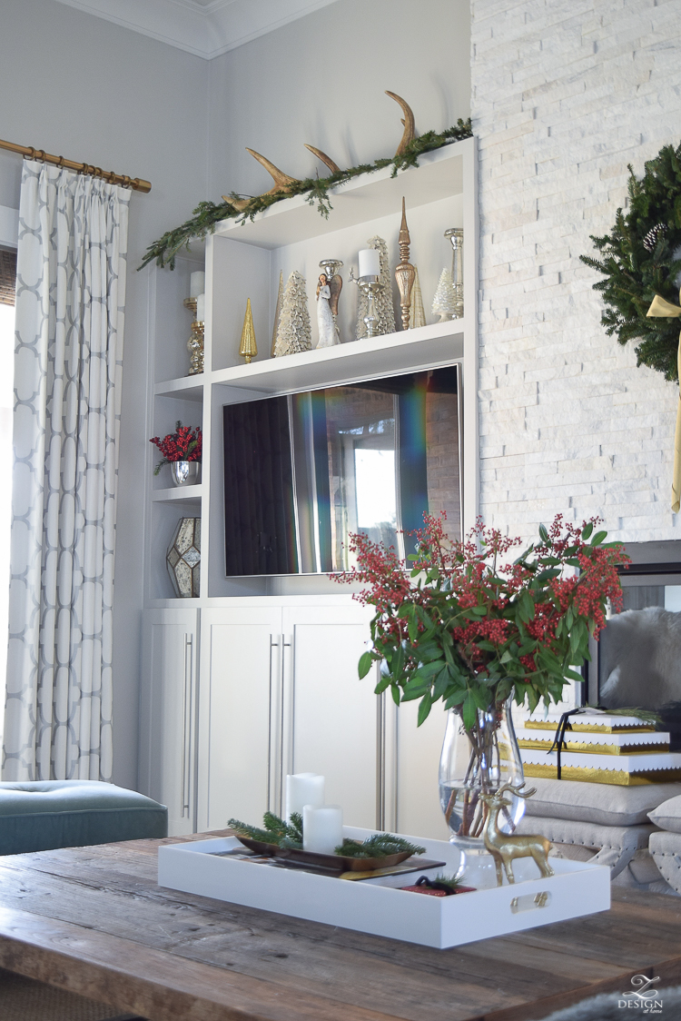 christmas-home-tour-gray-wingback-chair-with-brass-nailheads-christmas-shelf-styling-2