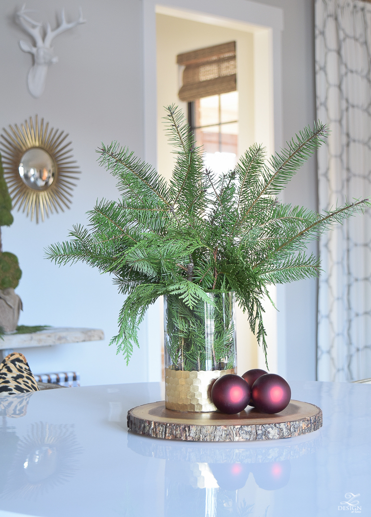 christmas-home-tour-round-gold-mirror-christmas-styling-decor-white-tulip-table-natural-garland-5
