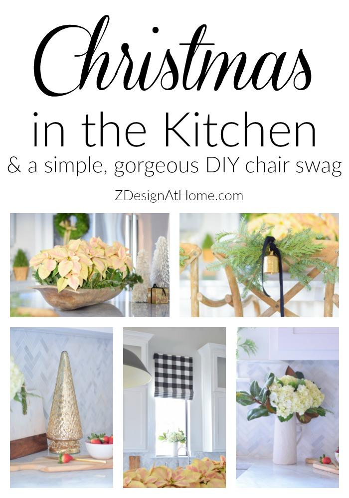 christmas-in-a-white-modern-farmhouse-kitchen-diy-chair-swag