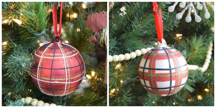 plaid-christmas-ornaments