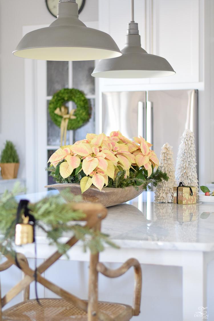 white-modern-farmhouse-kitchen-with-white-carrara-marble-and-white-herringbone-backsplash-christmas-deocr-for-the-kitchen-vintage-barn-pendants-large-dough-bowl-13