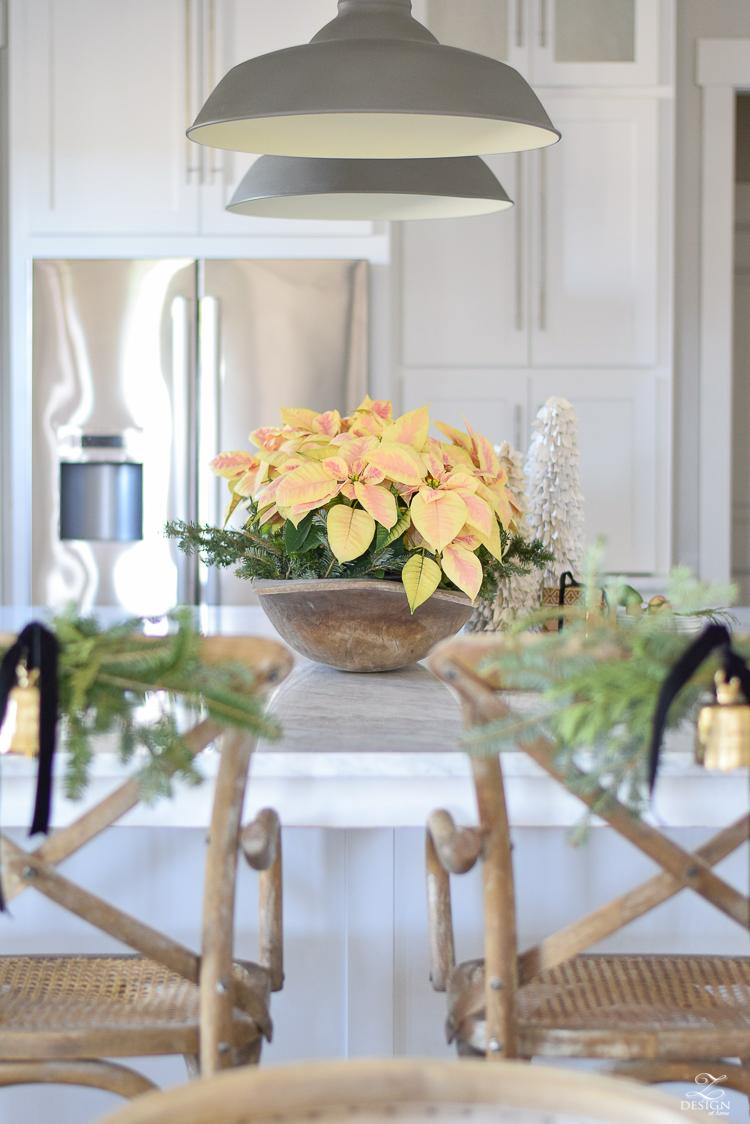 white-modern-farmhouse-kitchen-with-white-carrara-marble-and-white-herringbone-backsplash-christmas-deocr-for-the-kitchen-vintage-barn-pendants-large-dough-bowl-15
