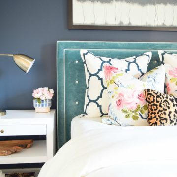Decorating with velvet teal blue velvet tufted headboard navy blue wall sherwin williams gentlemans gray paint-2