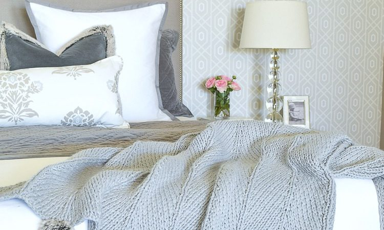 How to make a beautiful bed white and gray transitional modern bedroom