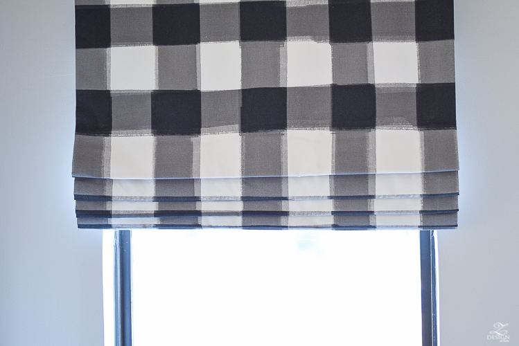 how to design a faux roman shade image of folds on a faux roman shade caitlin wilson buffalo check fabric-3