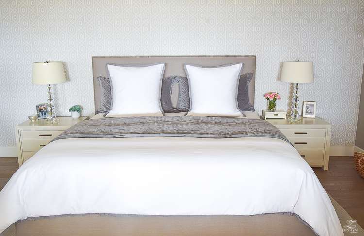 steps to making a beautiful bed gray velvet quilt and shams white serena and lilly duvet-4