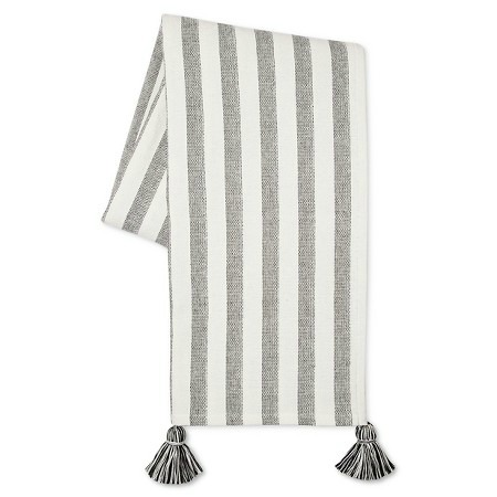 black and white tassel throw blanket tips for spring updates around the house