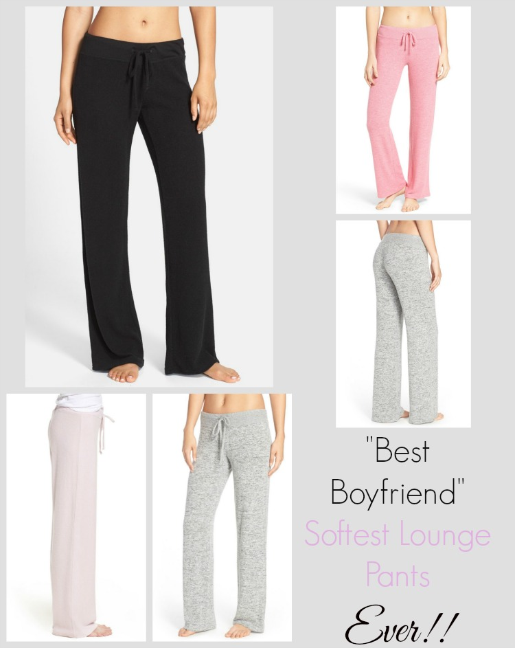 'Best Boyfriend' Brushed Hacci Lounge Pants MAKE + MODEL at Nordstrom