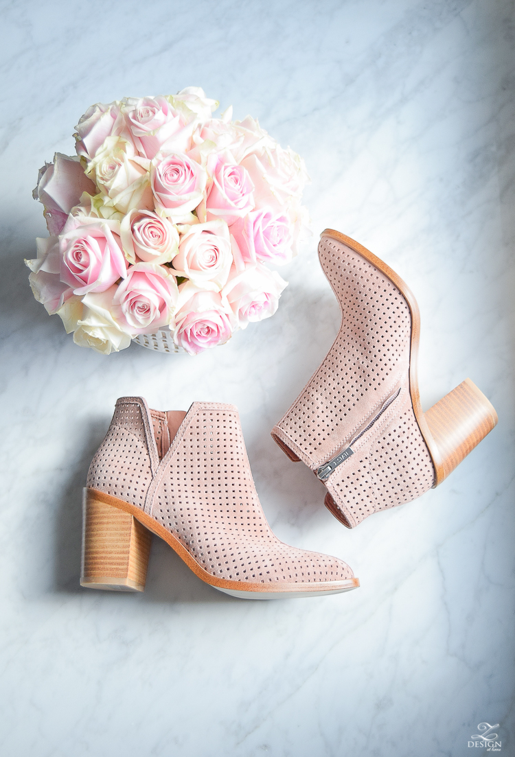 pink perforated shoes