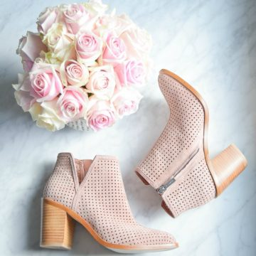 Nordstrom brand 1state -larocka blush portogallo review pink perforated booties shoes