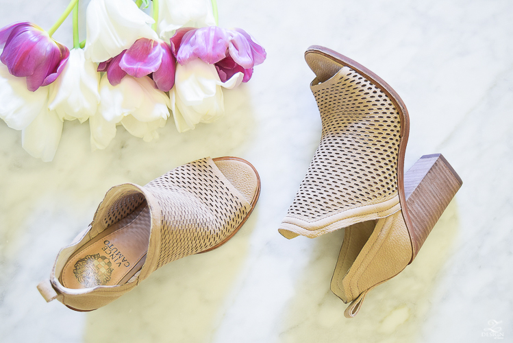Vince Camuto at Nordstrom VC-Kensa almond beige new tumbled nubuck perferated shoes with block heel-3