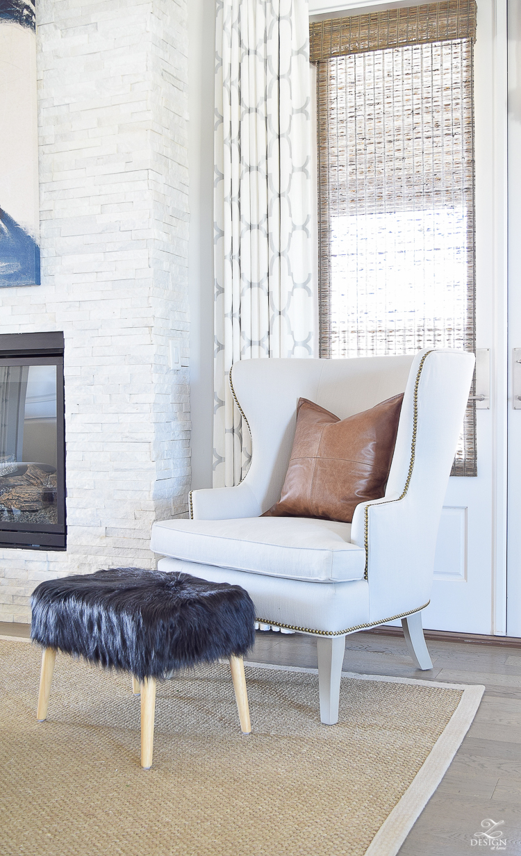 How to update a traditional wingback chair