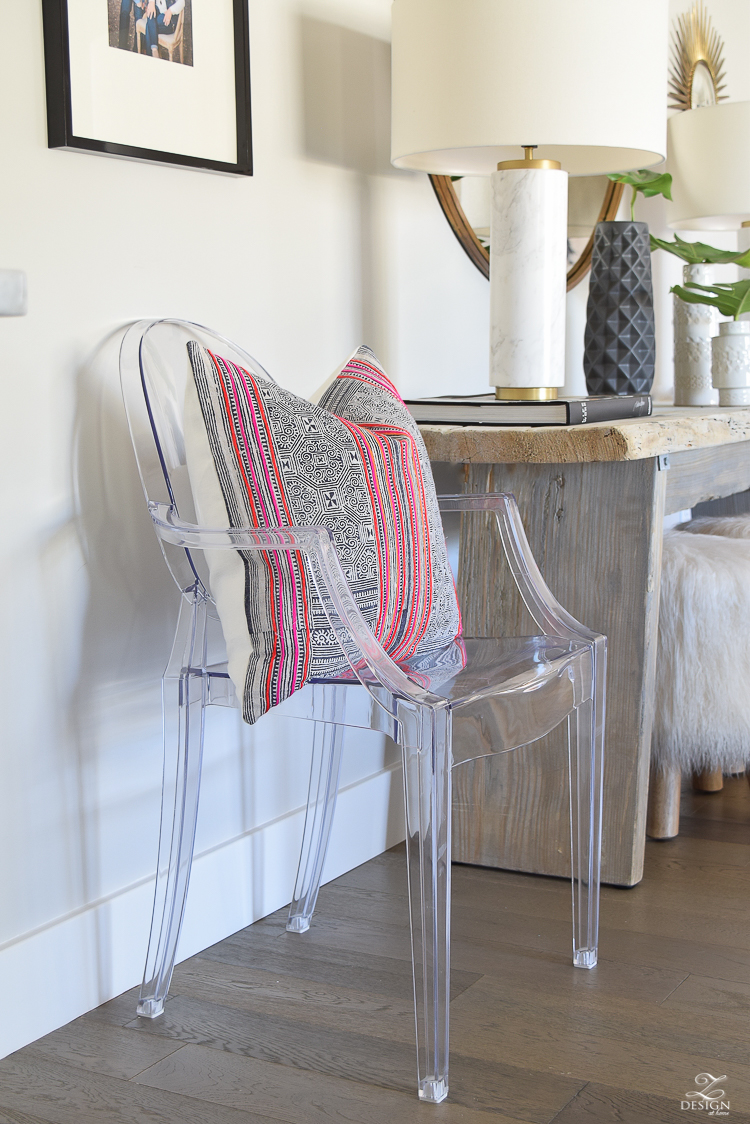 zdesign at home spring tour danielle Oakey Hmong pillow case ghost chair SW On The Rocks paint-1