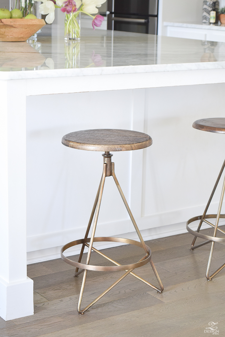 Modern Farmhouse Kitchen Backsplash the best modern farmhouse bar stools ( + an update on mine