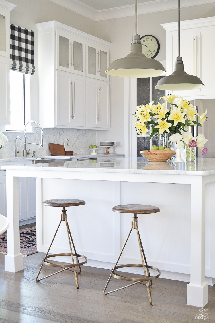 White Barstool Kitchen