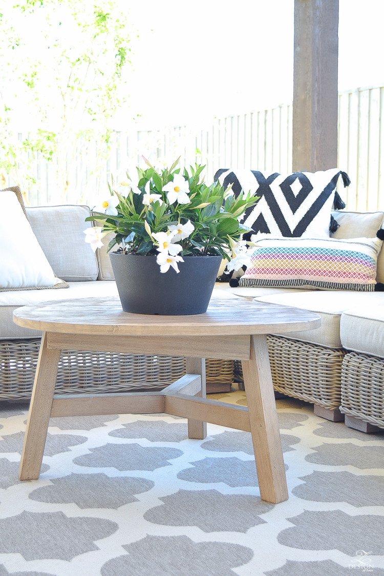 Spring outdoor living space rh rattan sectional black and white pillows with tassels outdoor entertaining-2