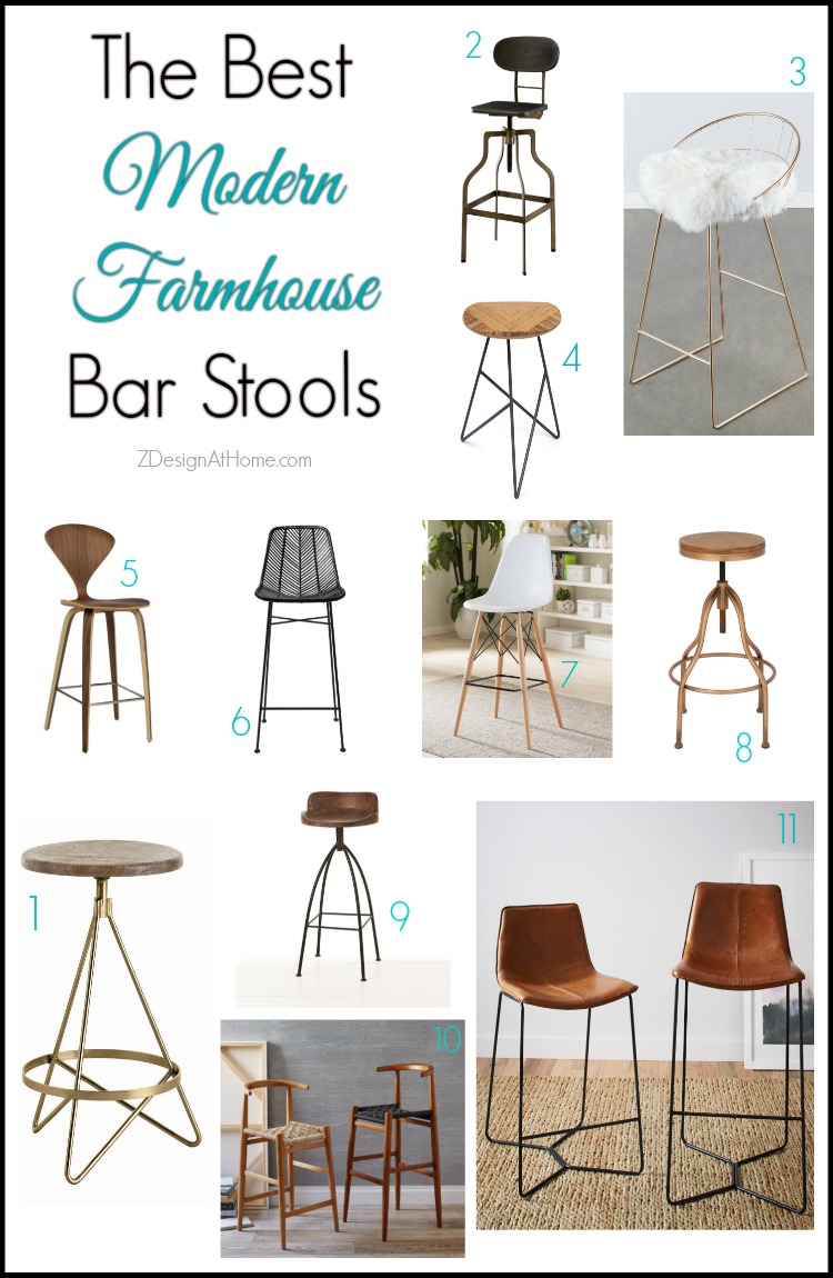 The Best Modern Farmhouse Bar Stools