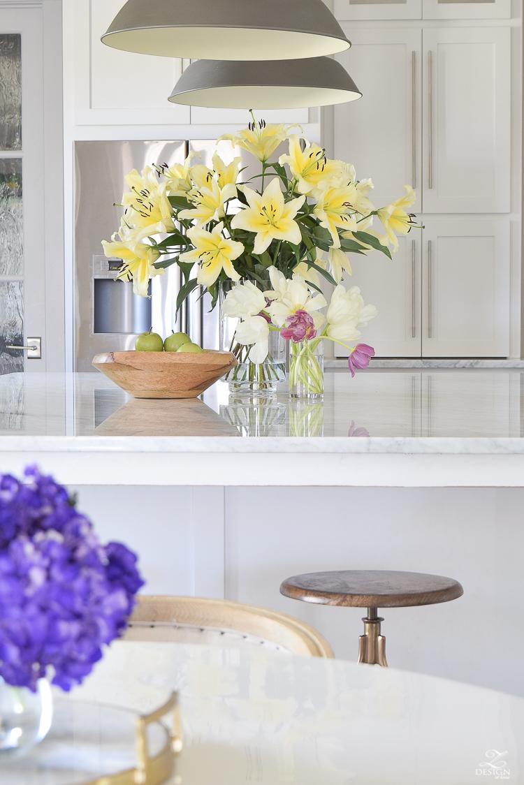 Modern Kitchen Stool White Tulip