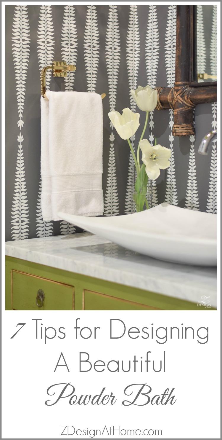 7 Tips For Designing A Beautiful Powder Bath