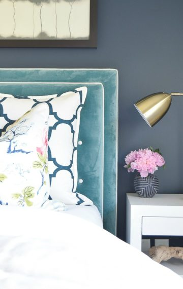 Basic to Beautiful Custom Velvet Headboard