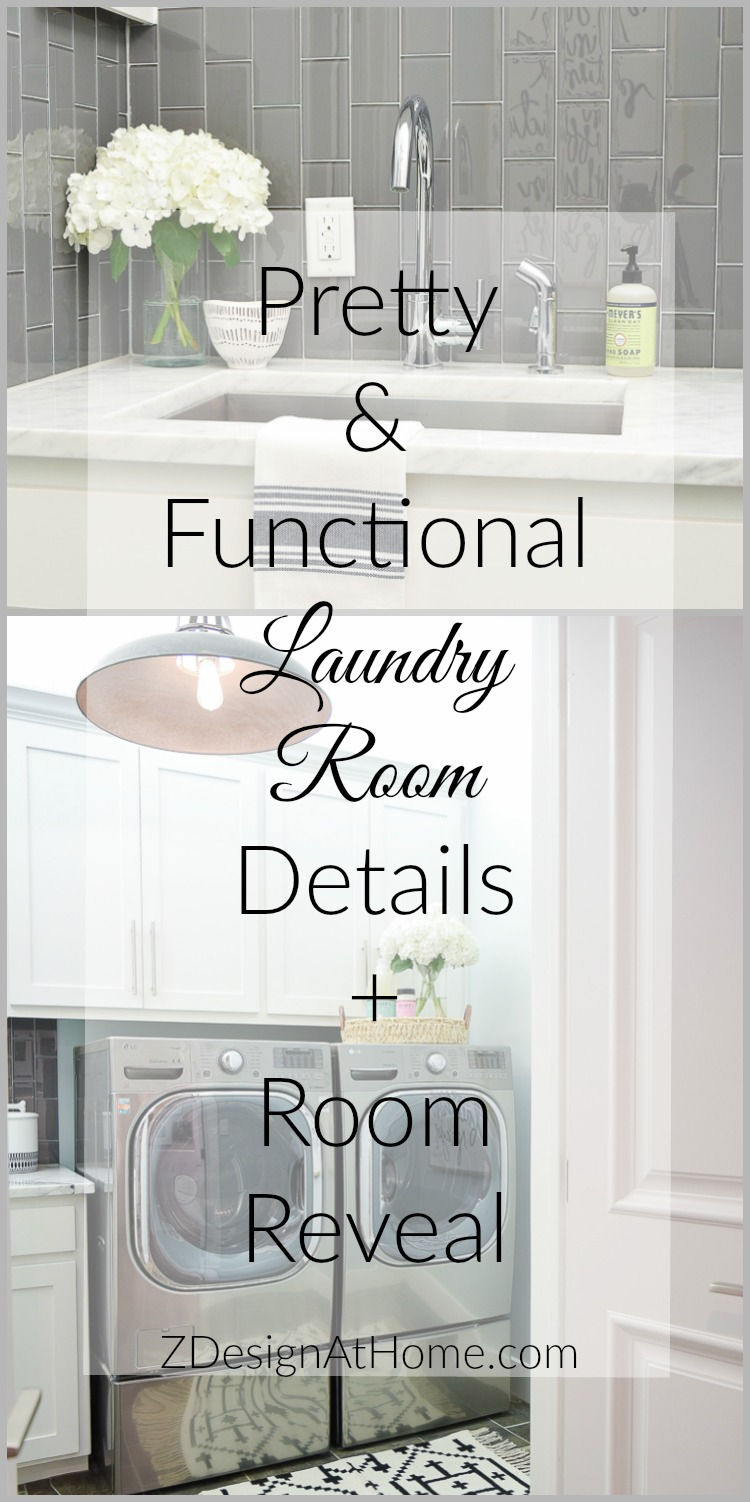 Pretty and Functional Laundry Room Details + Room Reveal ZDesign At Home