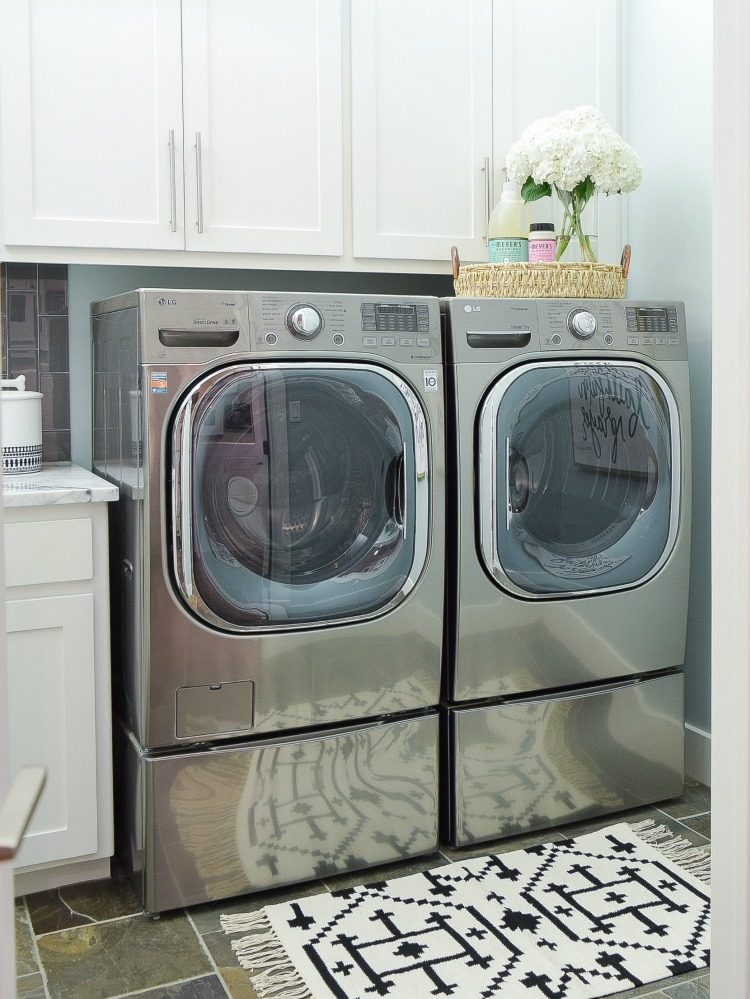 pretty functional laundry room details room reveal. Black Bedroom Furniture Sets. Home Design Ideas