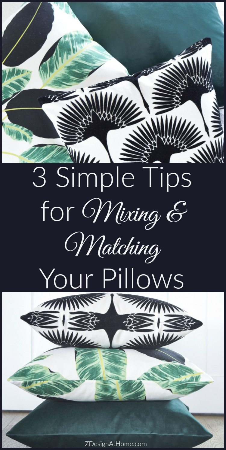 Simple tips for mixing matching your pillows my summer pillow preview zdesign at home - Simple decorating secrets for your home revealed ...