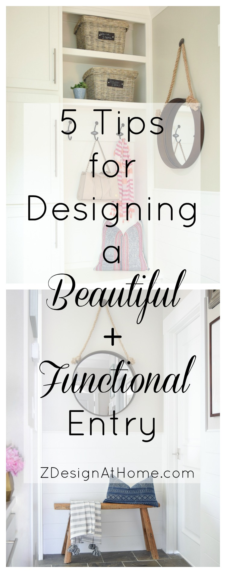 ZDesign At Home 5 Tips for a Beautiful and Functional Entry