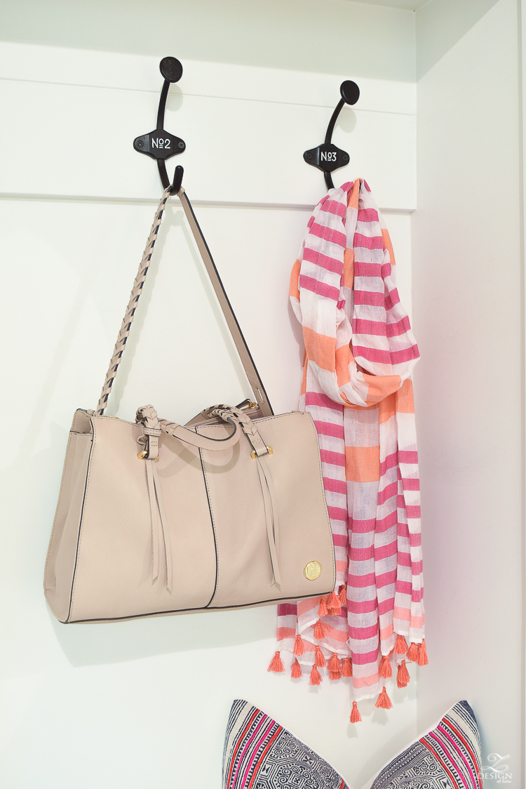 small mud room storage with vince camuto satchel purse