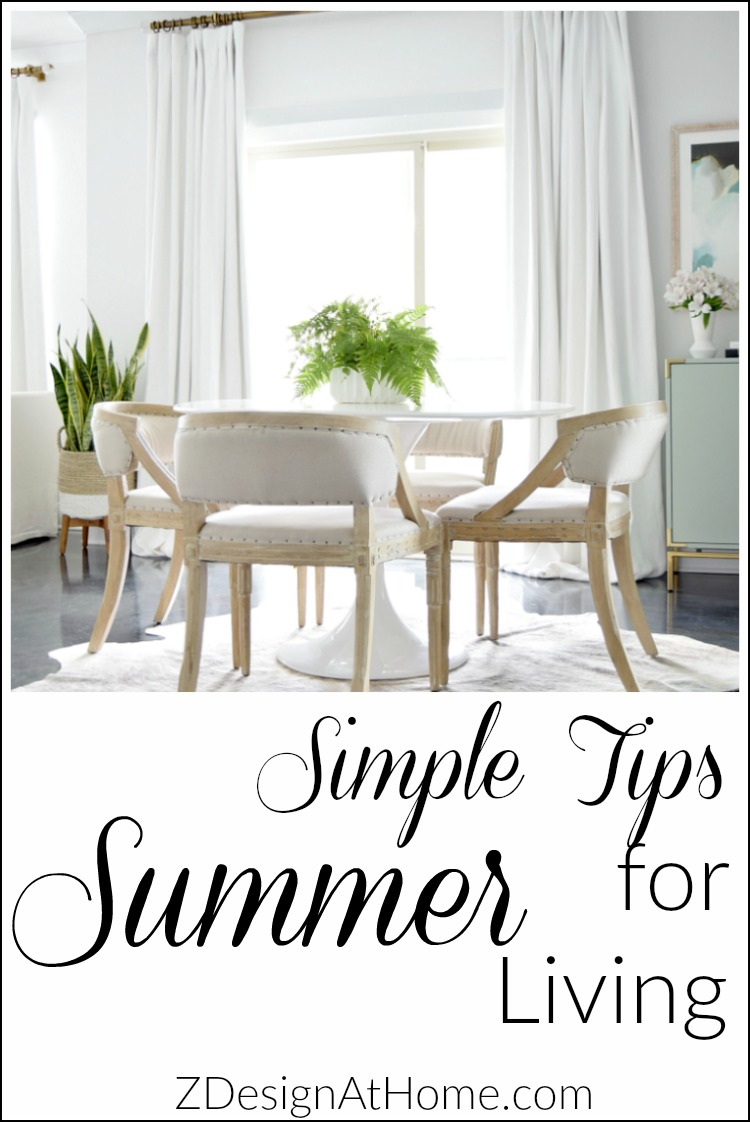ZDesign At HomeSimple Tips for Summer Living