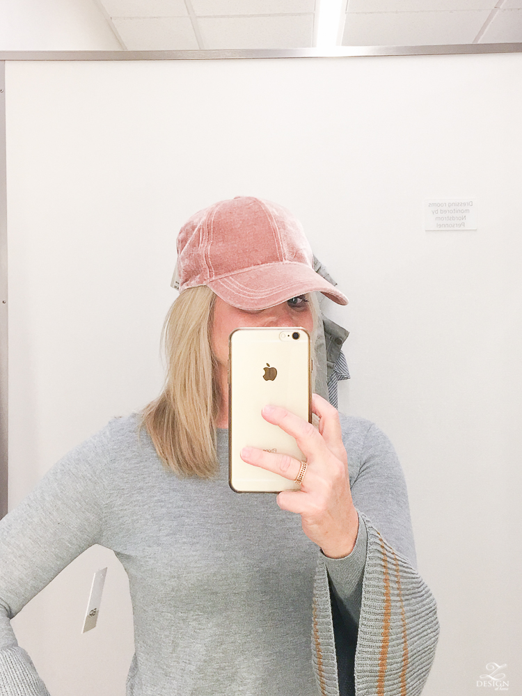 Hinge pink rosette hat nordstrom anniversary sale 2017 gray sweater with bell sleve with gold trim fall 2017 fashion-1