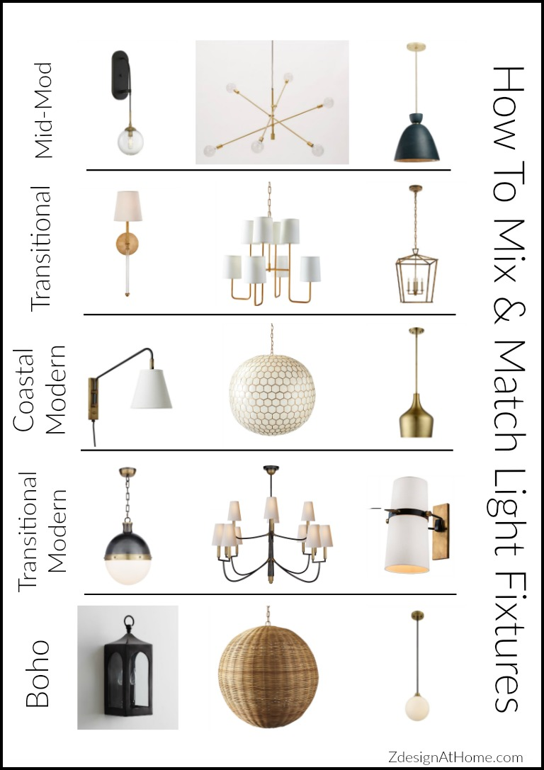 3 Simple Tips For Mixing Amp Matching Light Fixtures