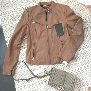 Nordstrom Anniversary Sale Early Access womens leather jacket and rebekah mink off suede cross body bag