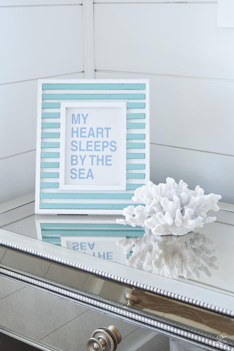 my heart sleeps by the sea beach house decor beach house design beachy decor items coral beach decor-1