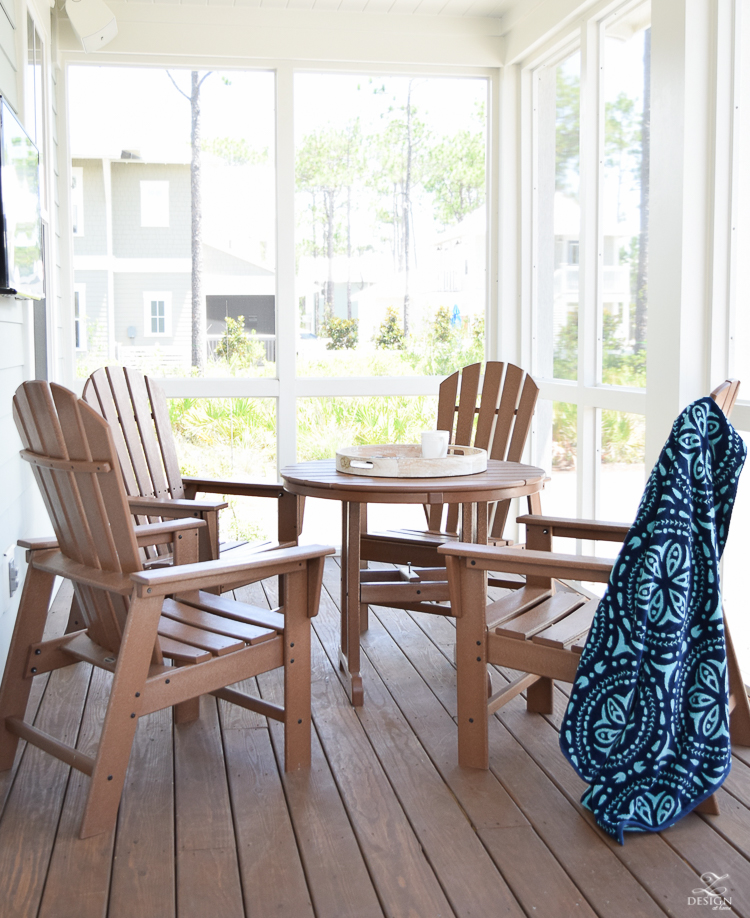 outdoor beach house patio set waterproof patio set boll & branch beach towel navy and aqua beach towels beach house in Watercolor FL with a pool-1