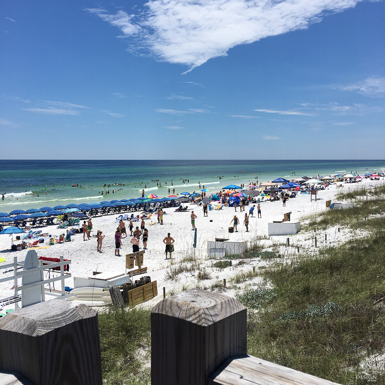 review of beach chair rental in Watercolor florida