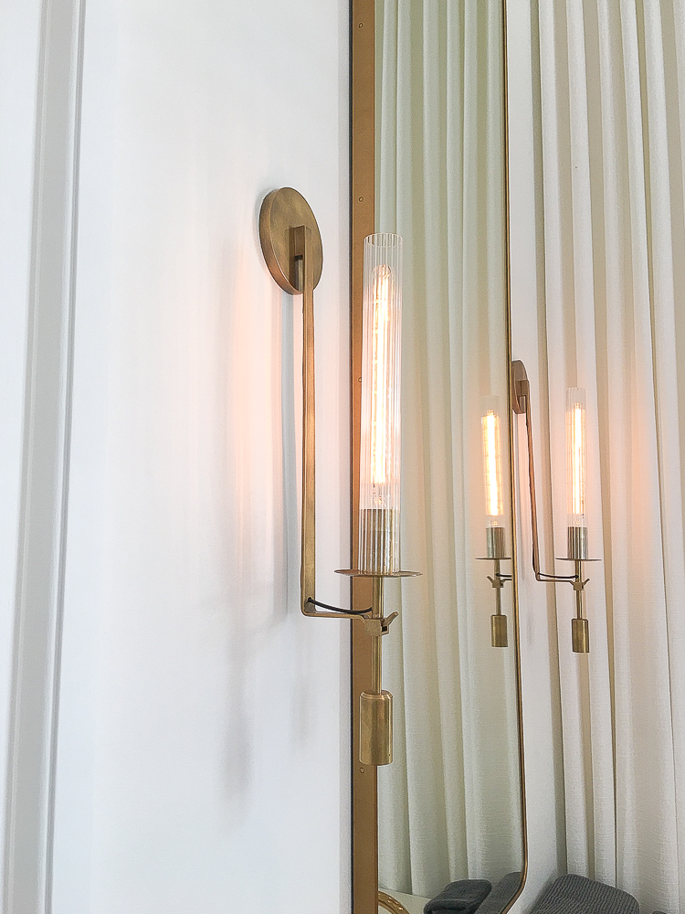 Custom Home Build Journey Inspiration Building a custom home in houston, texas modern brass bath sconce from RH