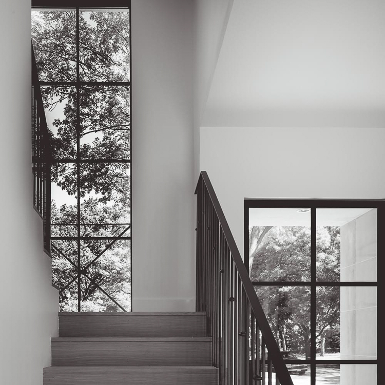 Custom Home Build Journey Inspiration Building a custom home in houston, texas window in staircase in the landing