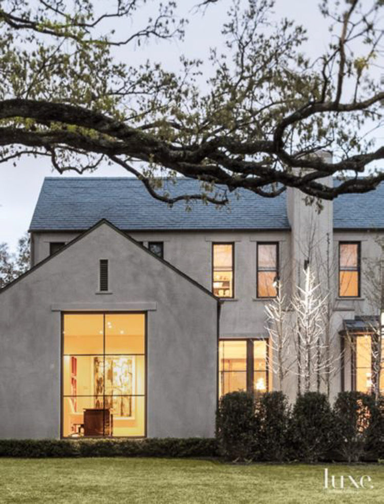 Custom Home Build Journey Inspiration Building a custom home in houston, texas -23 transitional white stucco home with black metal roof black shingle roof