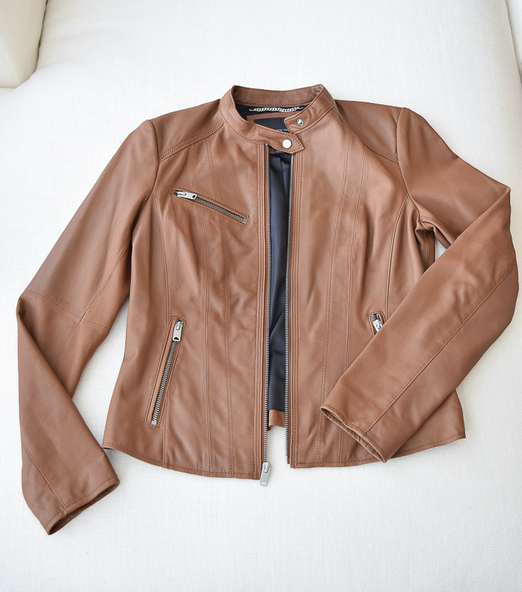 The perfect leather jacket this fall!