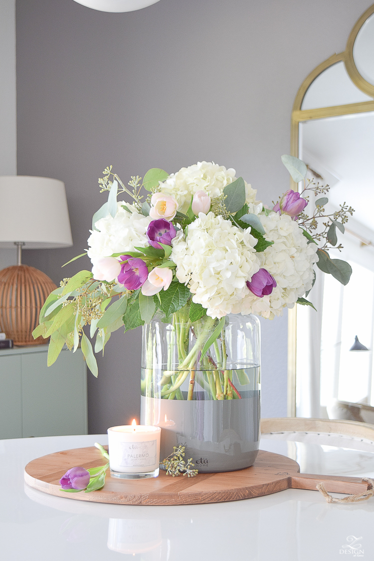 Incredible Sustainable Recycled Dip Dyed Mason Jar from France with modern and traditional elements - Modern Farmhouse Style