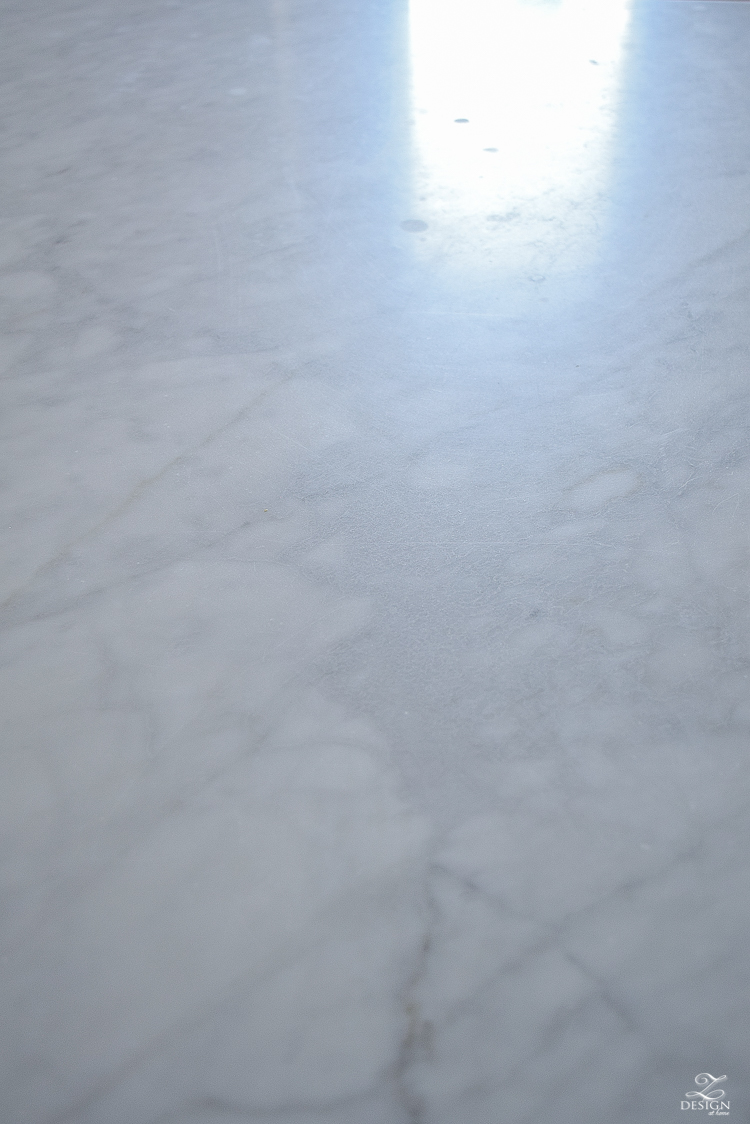 The Pros & Cons of Marble + How to Care for and Clean Marble (images of marble etching)