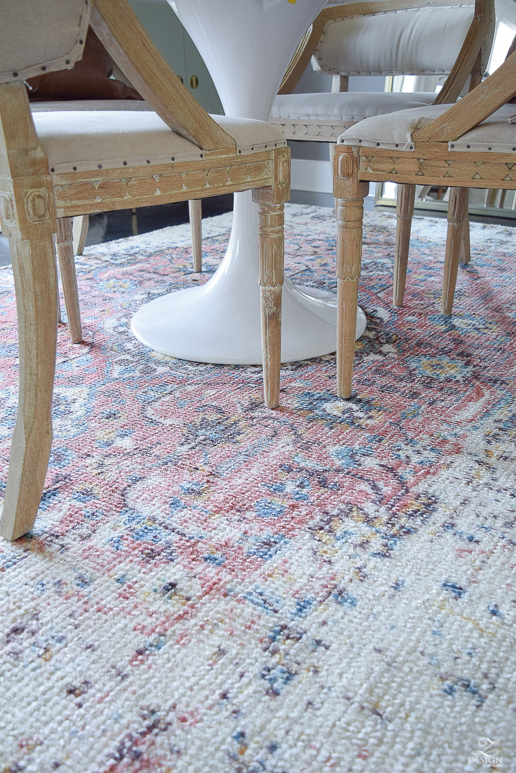 Vintage inspired rugs + tips for layering your rugs