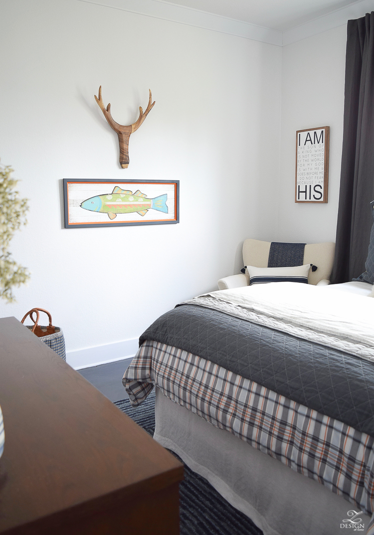 Sons Bedroom Love His Green Glow Goes Well With The: Boy's Boho Chic Bedroom Reveal + Tips For Layering Any Bed
